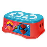 Toddler Step Stool in Red/Blue