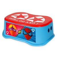 Toddler Step Stool in Blue/Red