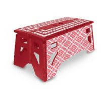 Folding 13-Inch Step Stool in Red/White