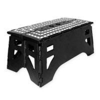 Folding 14.5-Inch Step Stool in Black/White
