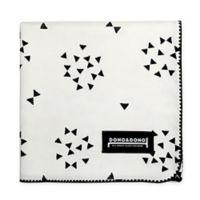 Dono&Dono Mariposa Cotton Cuddle Blanket in Black/White