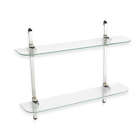 John Sterling Two Tier Decorative Glass Shelf Kit Bed