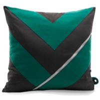 Mimish® Dreamer Square Storage Throw Pillow with Pocket in Charcoal/Golf Green