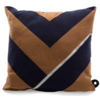 Mimish® Dreamer Square Storage Throw Pillow with Pocket in Navy/Khaki