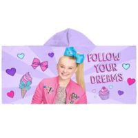 "JoJo Siwa™ ""Follow Your Dreams"" Hooded Beach Towel in Purple"
