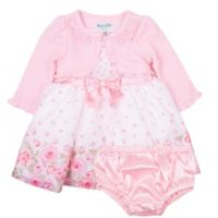 Nannette Baby® Size 2T 2-Piece Dress and Shrug Set in Pink