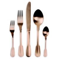 Madrid 20-Piece Flatware Set in Matte Copper