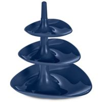 Betty 3-Tiered Serving Tray in Deep Blue