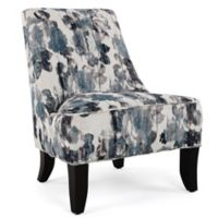 Mirabelle Polyester Upholstered Chair in Blue