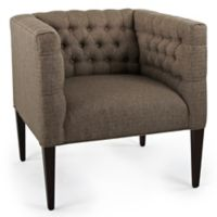 Graham Polyester Upholstered Chair in Brown