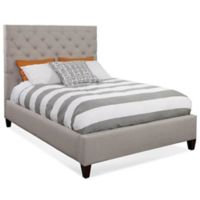 Dune Queen Tufted Panel Bed in Taupe