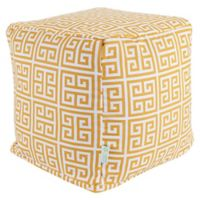 Majestic Home Goods™ Polyester Towers Ottoman in Citrus