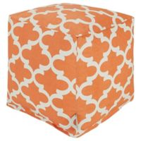 Majestic Home Goods™ Polyester Trellis Ottoman in Peach