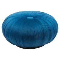 Zuo® Bund velvet Ottoman in Blue