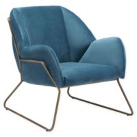 Zuo® Stanza Velvet Armchair in Blue