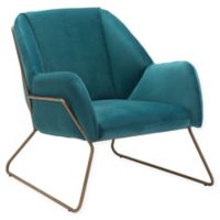 Zuo® Stanza Velvet Armchair in Green