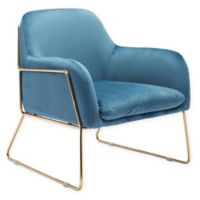 Zuo® Nadir Velvet Armchair in Blue