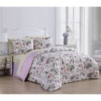 Jelena 8-Piece Reversible King Comforter Set in Lilac