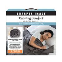 Sharper Image® Calming Comfort 10 lb. Weighted Blanket in Grey