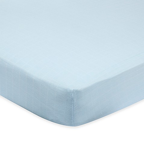 aden™ by aden + anais® Muslin Crib Sheet in Solid Blue