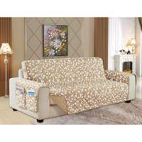 Leaf Reversible Sofa Cover in Cream