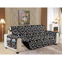 Leaf Reversible Sofa Cover in Black