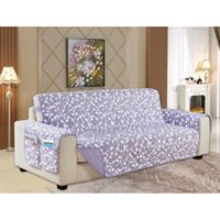 Leaf Reversible Sofa Cover in Lilac