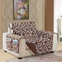 Leaf Reversible Chair Cover in Chocolate Brown