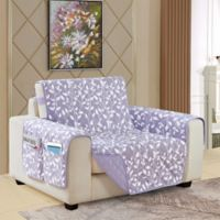 Leaf Reversible Chair Cover in Lilac