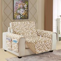Leaf Reversible Chair Cover in Cream