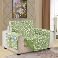Leaf Reversible Chair Cover in Sage