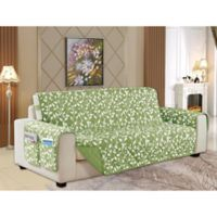 Leaf Reversible Sofa Cover in Sage
