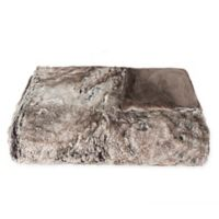 Luxe Fur Fur Throw Blanket in Tawny Fox Brown