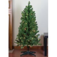 Northlight 4-Foot Noble Pine Pre-Lit Artificial Christmas Tree with Clear Lights