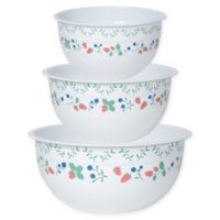 Now Designs™ Berry Patch 3-Piece Steel Mixing Bowl Set