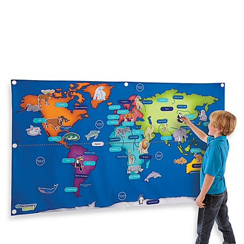 Discovery kids fabric activity world map bed bath beyond discovery kids fabric activity world map gumiabroncs Images