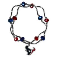 NFL Houston Texans Double Strand Stretch Bead Bracelet