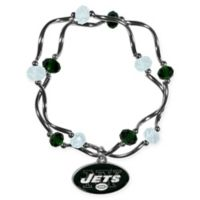 NFL New York Jets Double Strand Stretch Bead Bracelet