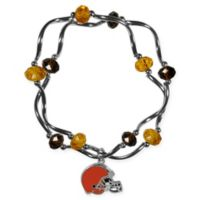 NFL Cleveland Browns Double Strand Stretch Bead Bracelet