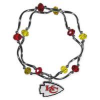 NFL Kansas City Chiefs Double Strand Stretch Bead Bracelet