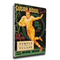 1935 Sugar Bowl Tulane vs. Temple Football Bowl Game Wall Art