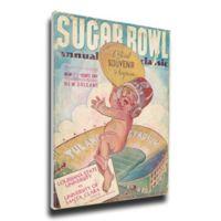 1938 Sugar Bowl Santa Clara vs. LSU Football Bowl Game Wall Art