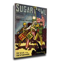 1943 Sugar Bowl Tennessee vs. Tulsa Football Bowl Game Wall Art