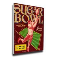 1948 Sugar Bowl Texas vs. Alabama Football Bowl Game Wall Art