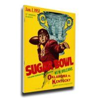 1951 Sugar Bowl Oklahoma vs. Kentucky Football Bowl Game Wall Art