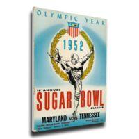 1952 Sugar Bowl Maryland vs. Tennessee Football Bowl Game Wall Art