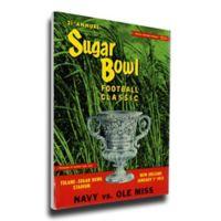 1955 Sugar Bowl Navy vs. Ole Miss Football Bowl Game Wall Art