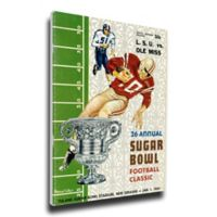 1960 Ole Miss vs. LSU Sugar Bowl Football Bowl Game Wall Art