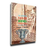 1962 Sugar Bowl Alabama vs. Arkansas Football Bowl Game Wall Art