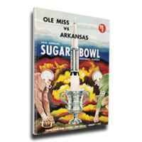 1963 Sugar Bowl Ole Miss vs. Arkansas Football Bowl Game Wall Art